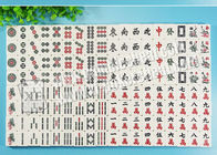 Invisible Gambling Accessories Marked Chinese Mahjong 136 Pieces For Contact Lense