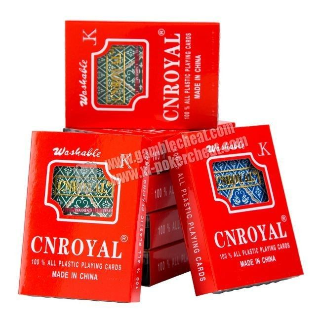 Plastic CNROYAL Invisible Playing Cards For Filter Cameras And UV Contact Lenses