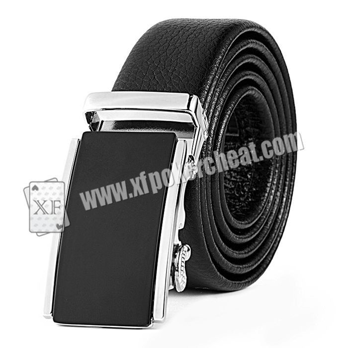 Black Leather Belt Camera Poker Scanner For Invisible Bar Codes Marked Playing Cards
