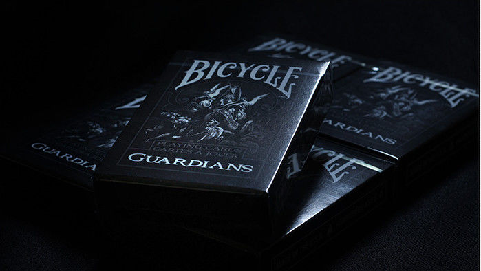 Black Guardians Deck Bicycle Plastic Playing Cards / Poker Cheat Device