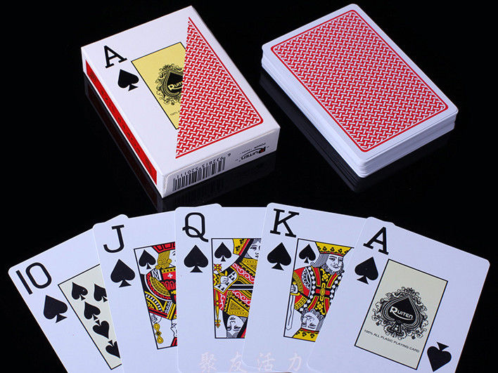 RUITEN Plastic Invisible Playing Cards / Red Color Marked Poker Cards