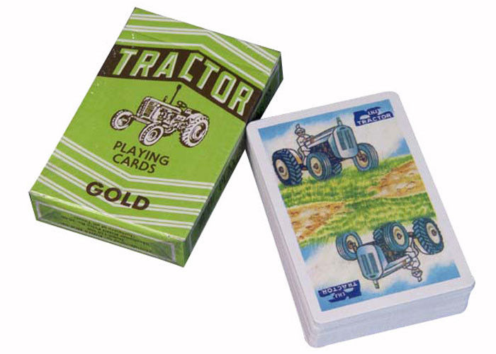 Recyclable Gambling Props Paper Tractor Playing Cards Bridge Size