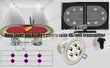 4g Wifiの送信機が付いている白色光レーザーの裏側のカメラのトランプの走査器